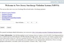 pay nj surcharge online official website