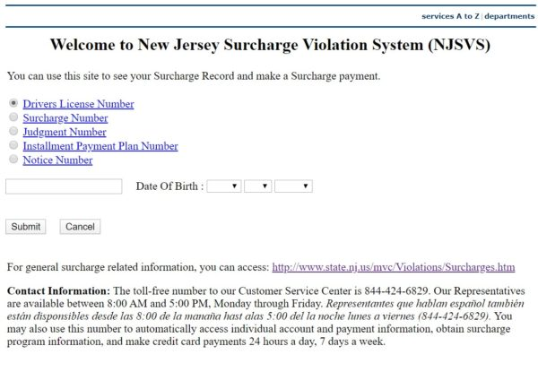 pay nj surcharge www.njsurcharge..com